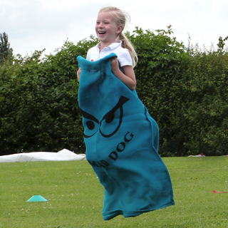 Sack race at the Westcott Cricket club